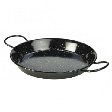 Black Enamel Paella Pans 26cm | Pack of 6