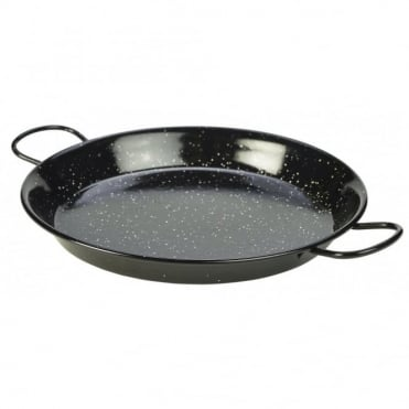 Black Enamel Paella Pans 30cm | Pack of 6