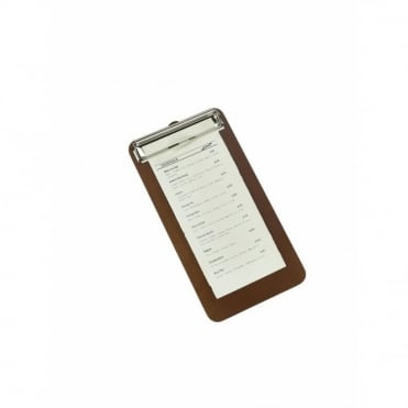 Wood Menu Clipboard 13cm x 24.5cm