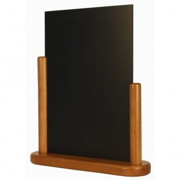 A4 Teak Wood Table Chalk Board - Large