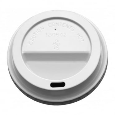 12/16oz Domed Sip Thru Coffee Cup Lid (White) | Pack of 1000