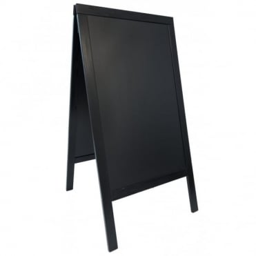 Black Pavement A-Board Chalk Board 70cm x 120cm