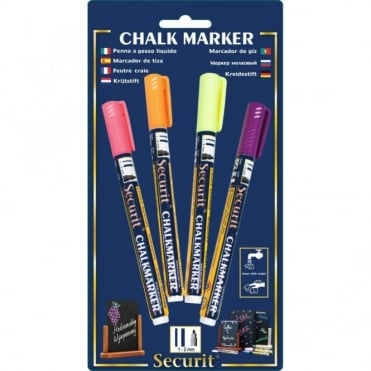 Liquid Chalk Markers Tropical Pack of 4 | Yellow, Pink, Orange, Purple