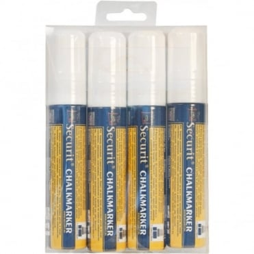 Large Tip Liquid Chalk Markers | White