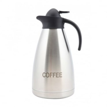Contemporary Stainless Steel Coffee Inscribed Vacuum Jug 2.0L