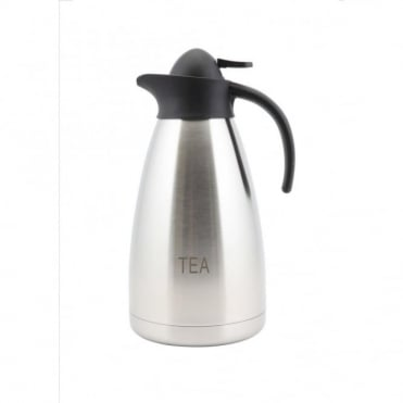 Contemporary Stainless Steel Tea Inscribed Vacuum Jug 2.0L