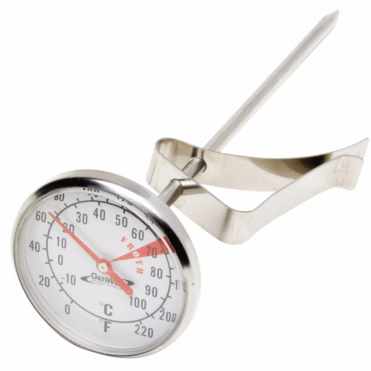 Genware Metal Frothing Thermometer