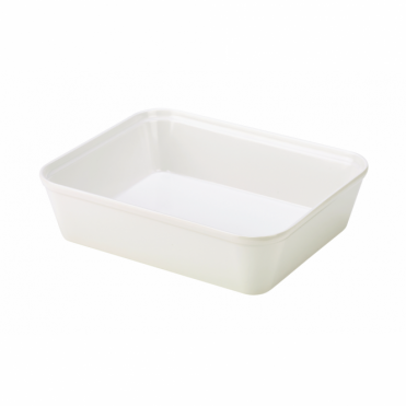 White Melamine Display Dish 24.5cm x 20cm