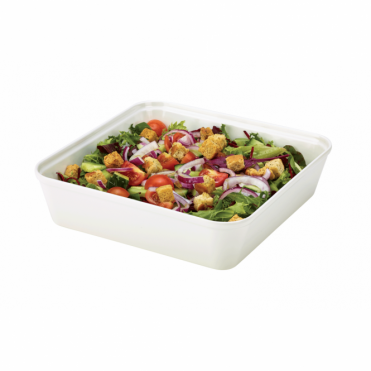 White Melamine Display Dish 25.4cm x 25.4cm