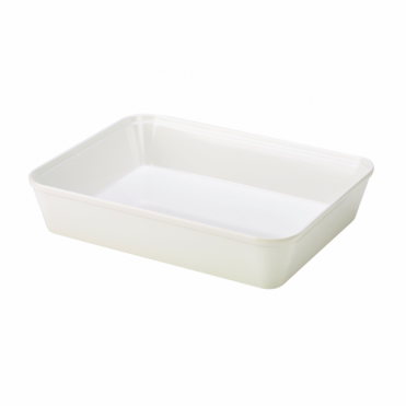 White Melamine Display Dish 31cm x 24cm