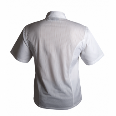 Coolback Press Stud Short Sleeve Chef's Jacket