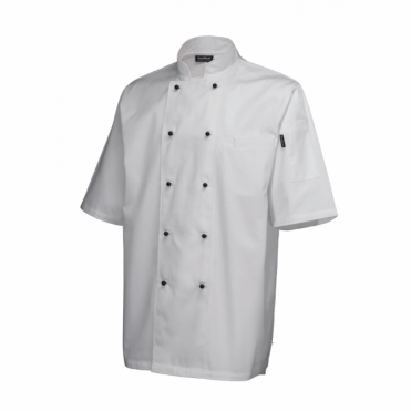 Short Sleeve Superior Chef's Jacket - White