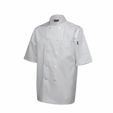 Short Sleeve Standard Chef's Jacket - White