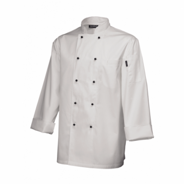 Long Sleeve Superior Chef's Jacket - White