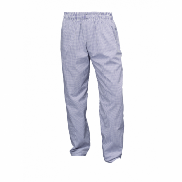 Blue and White Checkered Baggie Chef's Trousers