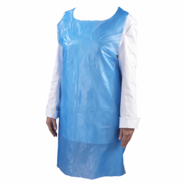 Blue Disposable Plastic Apron | Pack of 100