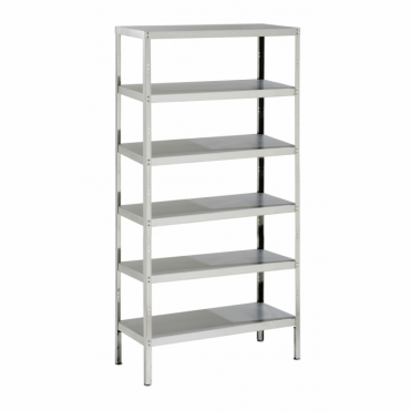 Stainless Steel Storage Rack with 6 Shelves