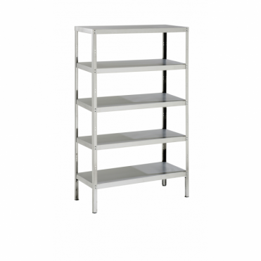 Stainless Steel Storage Rack with 5 Shelves