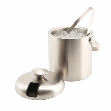 Stainless Steel Insulated Ice Bucket - 1.2 Litre