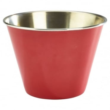 Red Stainless Steel Ramekin 340ml 12oz | Pack of 12