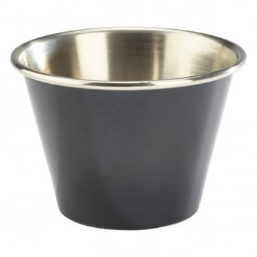 Black Stainless Steel Ramekin 71ml 2.5oz | Pack of 12