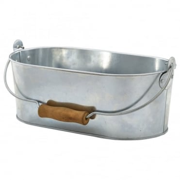 Galvanised Steel Oval Table Caddy 28cm