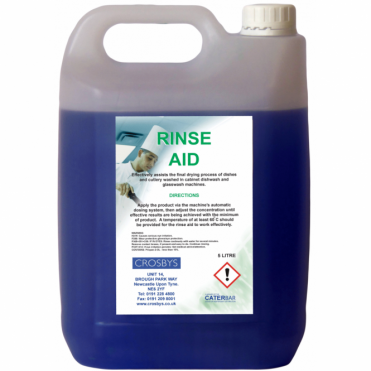 Dishwasher and Glassware Rinse Aid 5 Litre