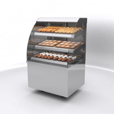 Vision Heated Self Service Free Standing Display 1200mm