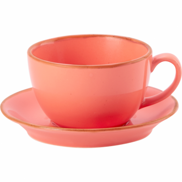 Seasons Coral 250ml Cup & Saucer | Pack of 6