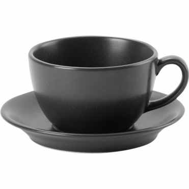 Seasons Graphite 340ml Cup & Saucer | Pack of 6