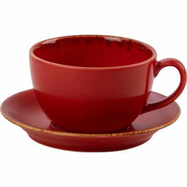 Seasons Magma 340ml Cup & Saucer | Pack of 6