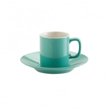 3oz Gloss Jade Green Espresso Cup and Saucer | Pack of 12