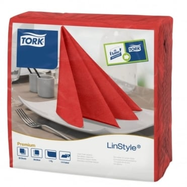 LinStyle Red Dinner Napkin 478854 | Pack of 600