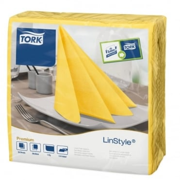 LinStyle Passion Yellow Dinner Napkin 478858 | Pack of 600
