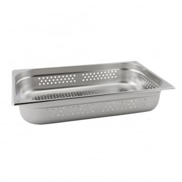 Stainless Steel Perforated Gastronorm Pan 1/1 - 530 x 325mm