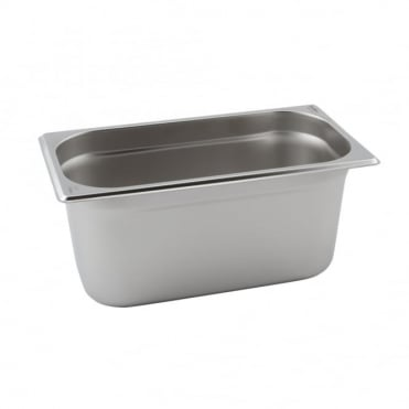 Stainless Steel Gastronorm Pan 1/4 - 265 x 163mm