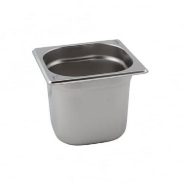 Stainless Steel Gastronorm Pan 1/6 - 176 x 162mm