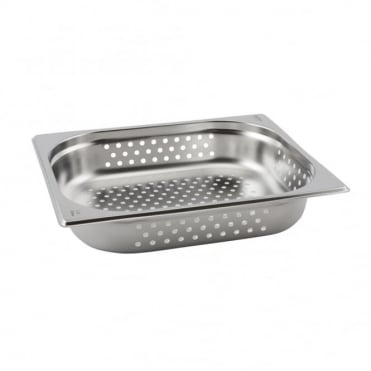 Stainless Steel Perforated Gastronorm Pan 1/2 - 325 x 265mm