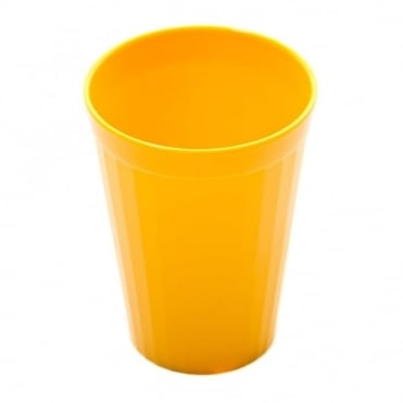 Yellow Polycarbonate Plastic Fluted Tumbler 200ml