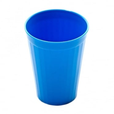Medium Blue Polycarbonate Plastic Fluted Tumbler 200ml