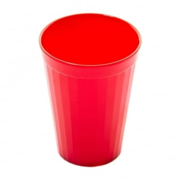 Red Polycarbonate Plastic Fluted Tumbler 200ml
