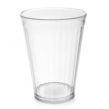 Clear Polycarbonate Plastic Fluted Tumbler 200ml