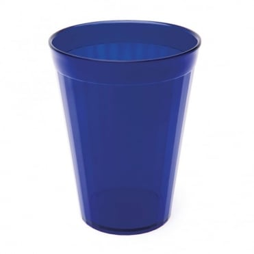 Transparent Blue Polycarbonate Plastic Fluted Tumbler 200ml