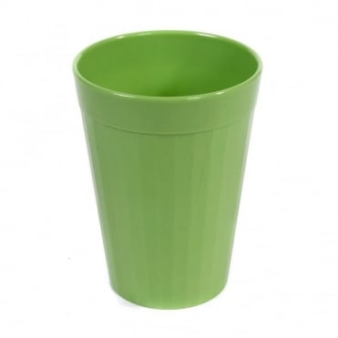 Apple Green Polycarbonate Plastic Fluted Tumbler 200ml