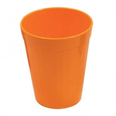 Orange Polycarbonate Plastic Fluted Tumbler 150ml
