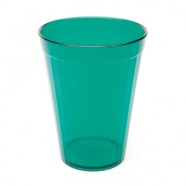 Transparent Green Polycarbonate Plastic Fluted Tumbler 150ml