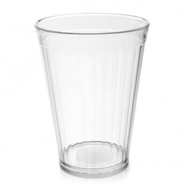 Clear Polycarbonate Plastic Fluted Tumbler 150ml