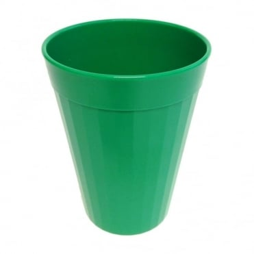 Emerald Green Polycarbonate Plastic Fluted Tumbler 150ml