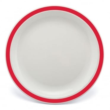 Red Polycarbonate Duo 17cm Plate