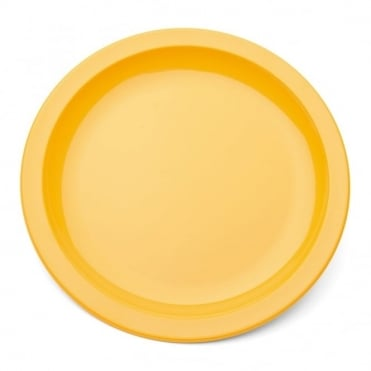 Yellow Polycarbonate Narrow Rimmed 17cm Plate